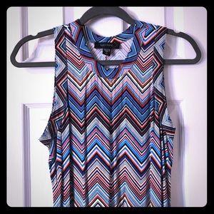 Karen Kane chevron multicolored sleeveless dress